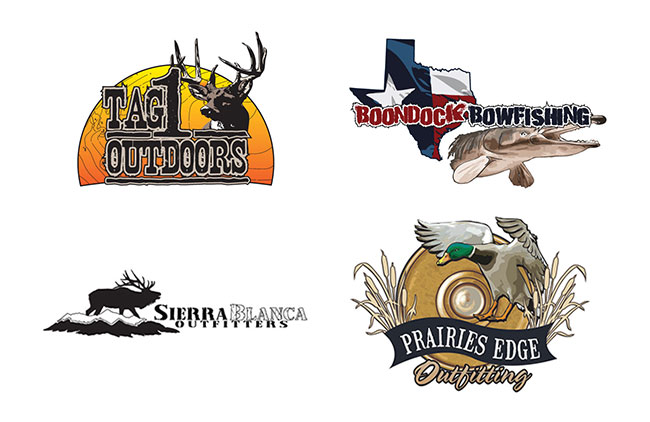 4 New Cool Hunting And Fishing Logos