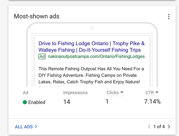 Why am I not seeing my search ads in Google?