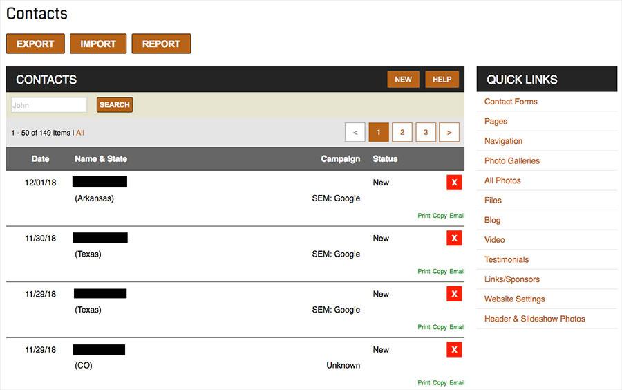 Custom websites from 3plains