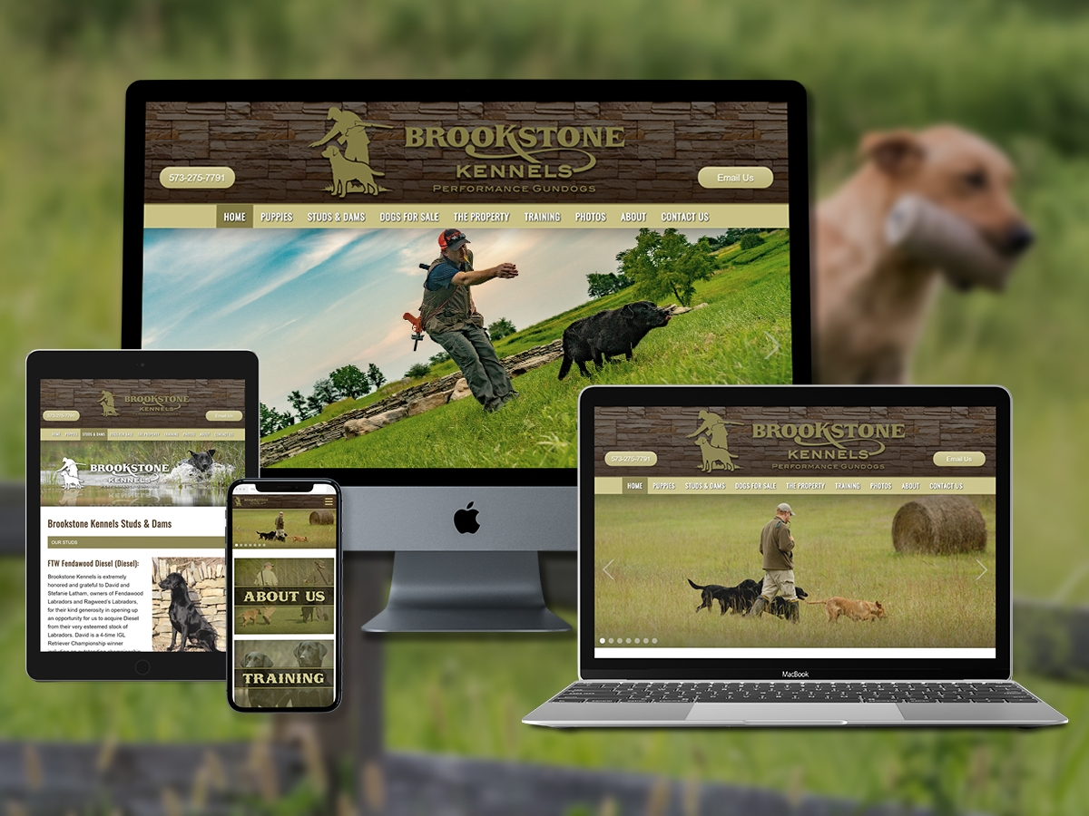 Gun Dog Breeders Web Design