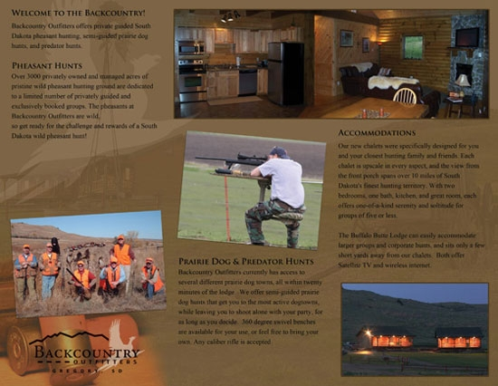Hunting Brochure Example Back