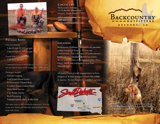 Hunting Brochure Example Front