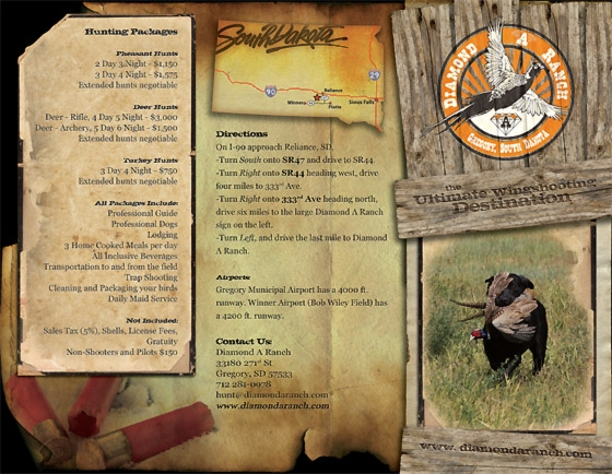 Hunting Brochure Tri-Fold Example Front