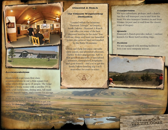 Hunting Brochure Tri-Fold Example Back