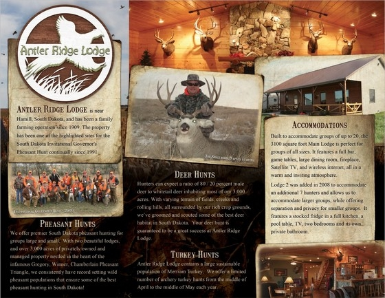 Hunting Lodge Brochure Tri-Fold Example Front