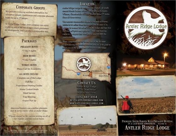 Hunting Lodge Brochure Tri-Fold Example Back