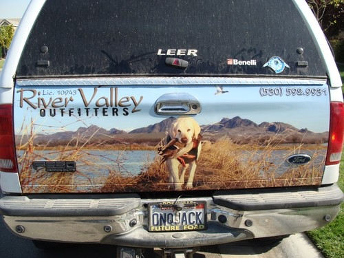 Truck Custom Waterfowl Graphic Vehicle Sticker Wrap Decal For - Decals for trucks
