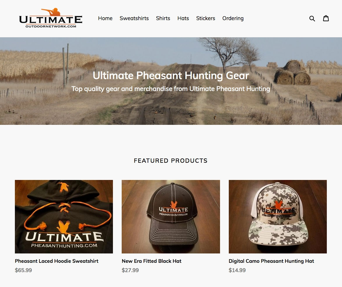 Shopify Outdoor Store Development - Web Design