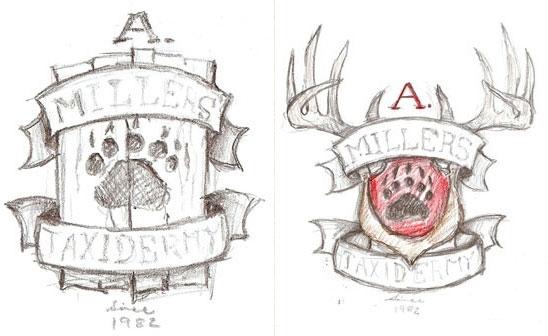 Taxidermy Logo Design Sketch