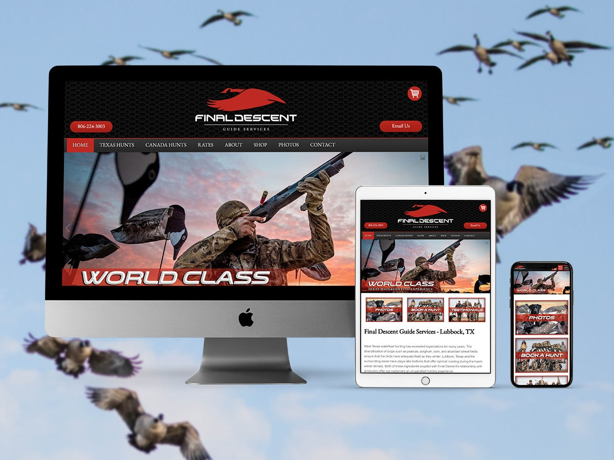 Hunting Web Design