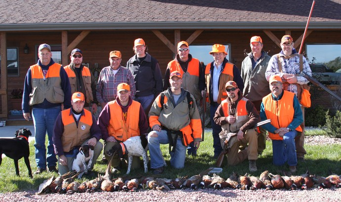 2009 South Dakota Pheasant Opener with a Wyoming Group at Antler Ridge Lodge in Hamill, South Dakota. Great pheasant hunt and a great group of guys.