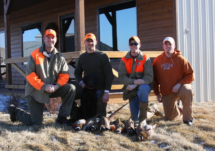 Late season hunt at Antler Ridge Lodge with the guides. L to R: Ryan of 3plains, Joe, Trent, Tyler.