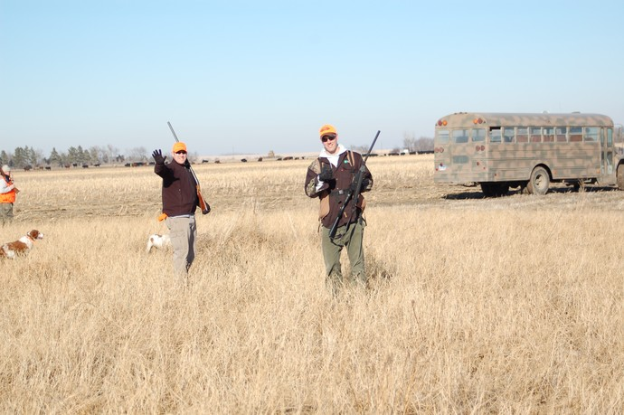 L to R: Cory and Ryan hunting at Bird Down Lodge in Bowdle, South Dakota.