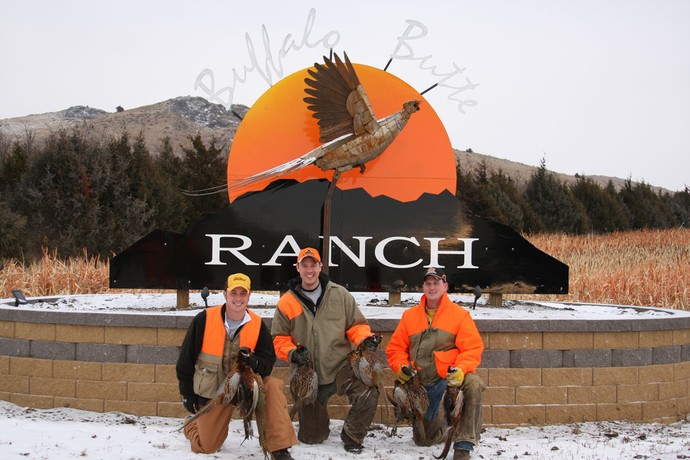 Andy of Kohler, Ryan of 3plains & Andy of 4.0 Bus Services on a late season hunt at Buffalo Butte Ranch