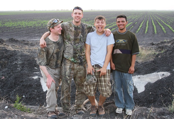 Dove hunting in Mexico near San Fernando, Mexico at the Pintail Lodge. L to R: Ben, Ryan, Tony and David.