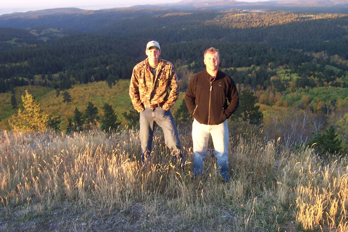 Ryan of 3plains elk hunting in the Black Hills with guide Clint DeBoer.