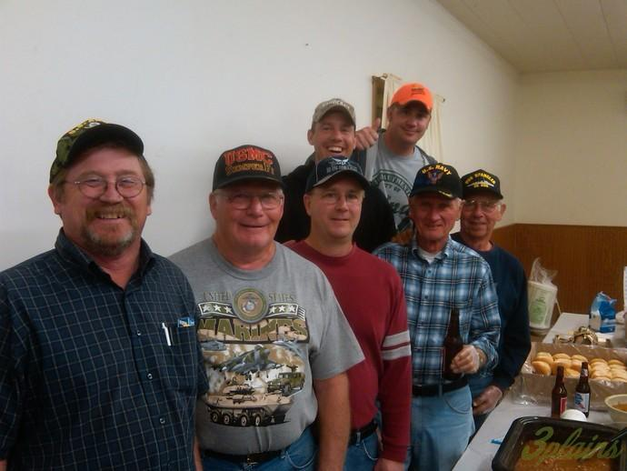 Downtown in Armour SD the night before pheasant opener. The local VFW guys took some time to grab a photo with us.