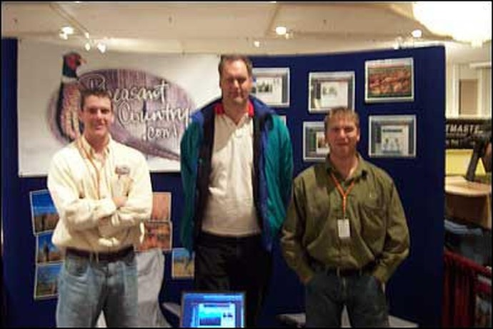 L to R: Ryan Trask, Randy Bruer, Clint DeBoer (1st salesman for Pheasantcountry.com). Pheasantcountry.com was built back in 2002.