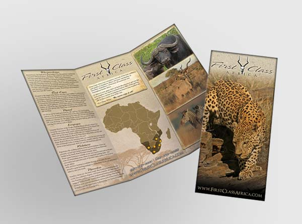 View Hunting Safari Brochure Design + Printing