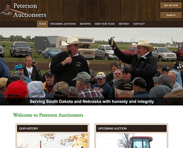 Auctioneer Web Design