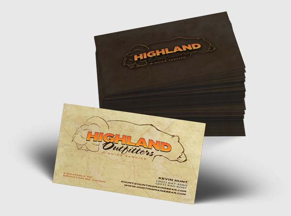 View Business Cards Design for Big Game Hunting Guides