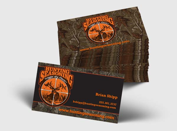 View Hunting Seasoning Business Cards - Design/Printing