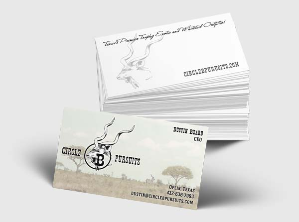 View Exotics Ranch Business Card Design