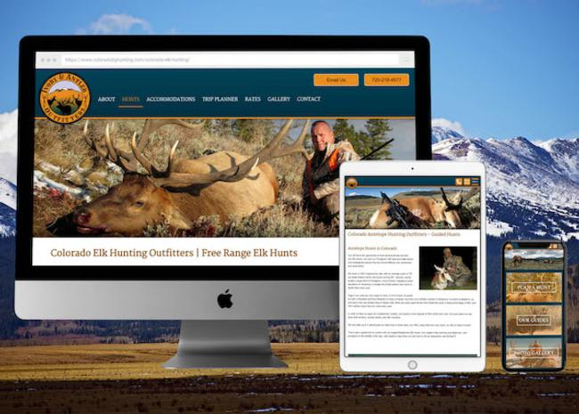 View Colorado Hunting Outfitter Web Design