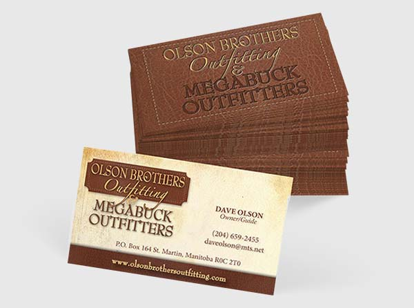 Deer Outfitter Business Cards