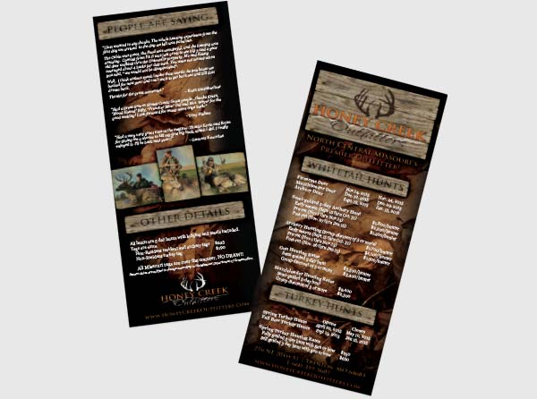 View Deer Hunting Rackcards - Design/Printing