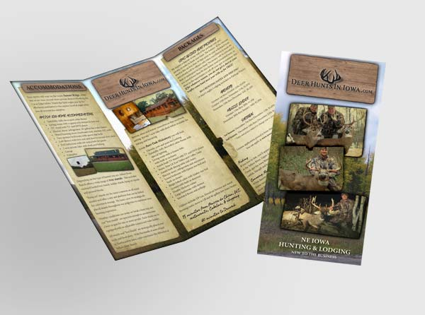 View Deer Hunts in Iowa brochure design