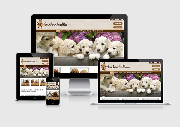 Dog Breeder Web Design