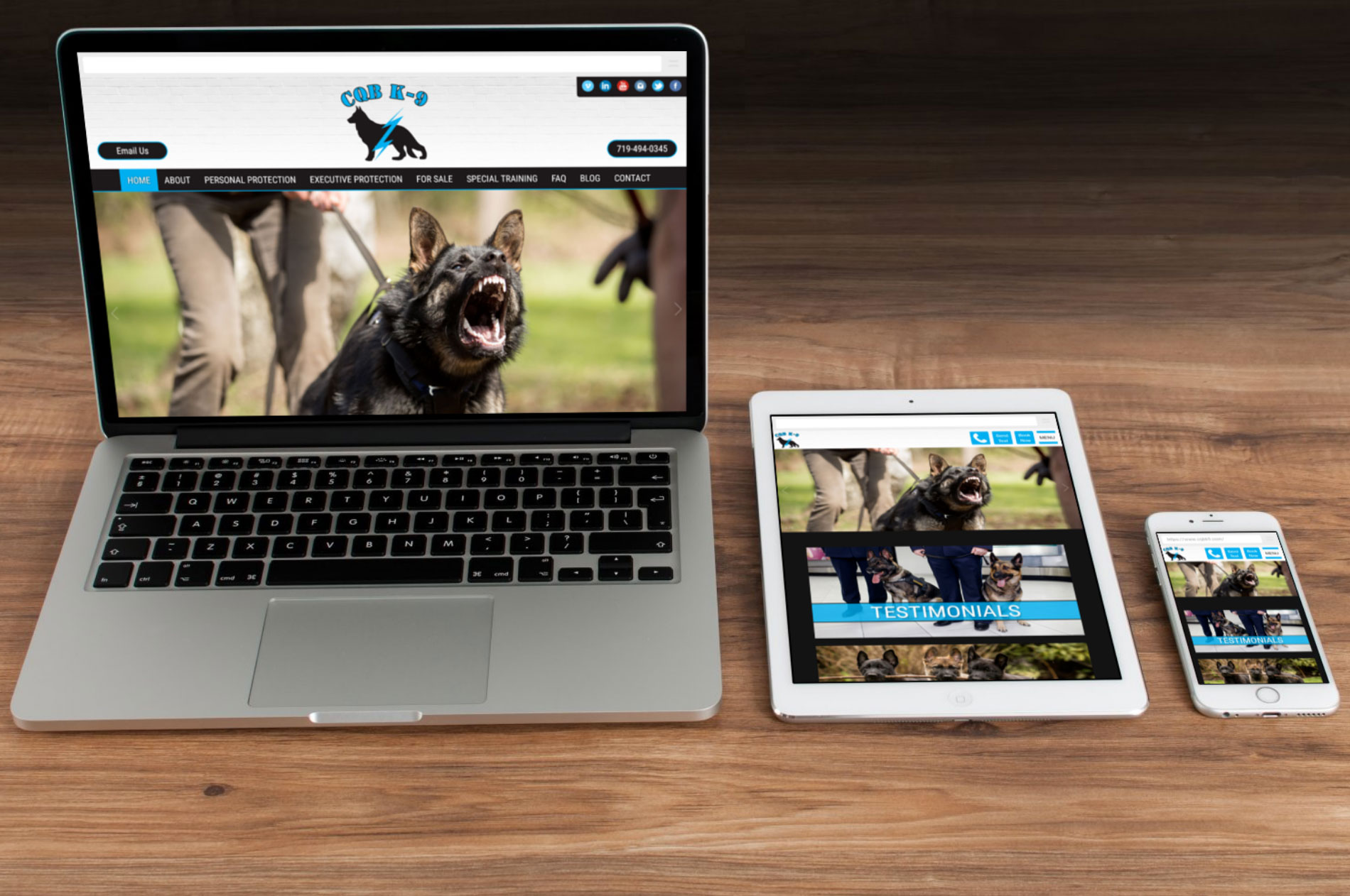 Dog Trainer Web Design