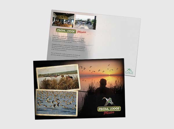 Postcard Design - Duck Hunting Lodge Example