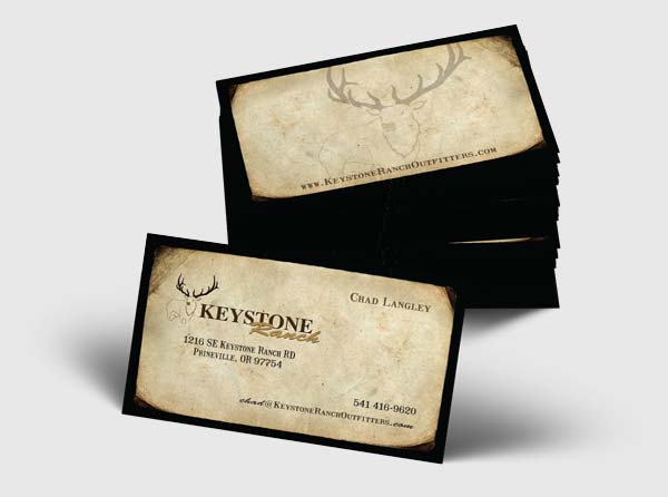 View Elk Hunting Guide Business Card Design + Printing