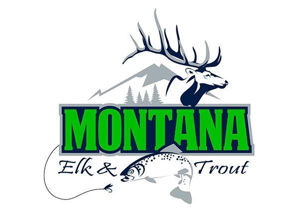 Elk Hunting / Trout Fishing Logo