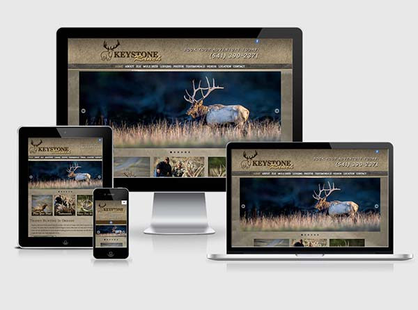 Elk Hunting Web Design