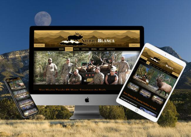 New Mexico Elk Hunting Web Design