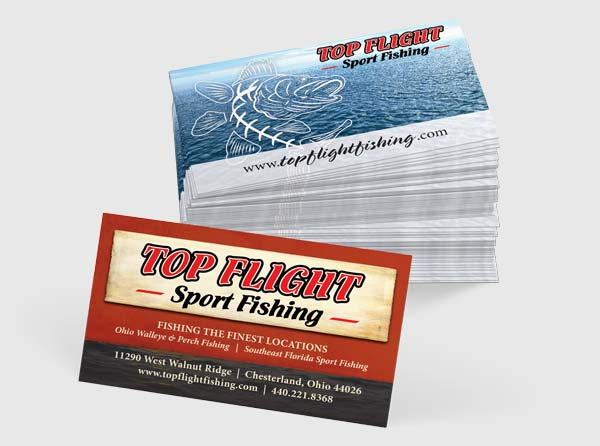 Fishing guide business cards design for Fishing business cards