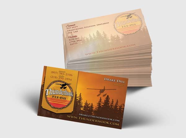 Canada Business Cards Fishing