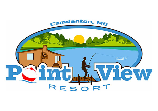 View Point View Fishing Resort Logo Design