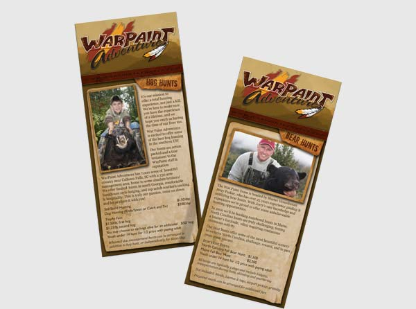View Hog Hunting Guide Rackcards & Printing