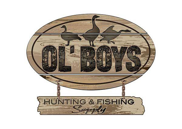 Fishing Hunting Supply Store Style Logo