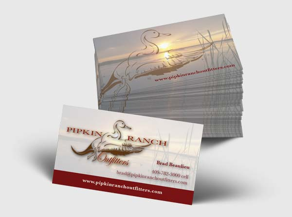 Hunting and fishing business card design printing business cards hunting fishing guide colourmoves