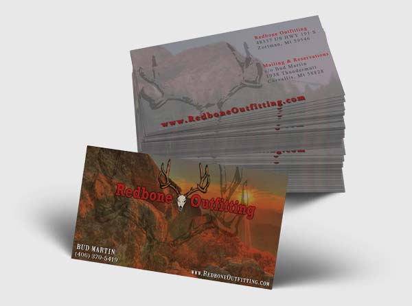 Montana Outfitter Business Cards