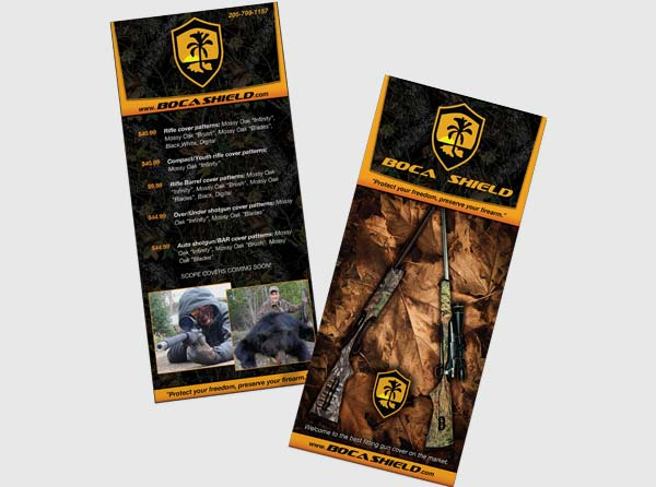 View Hunting Products Rackcard Design + Printing