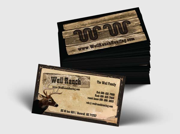View Hunting Ranch Business Cards