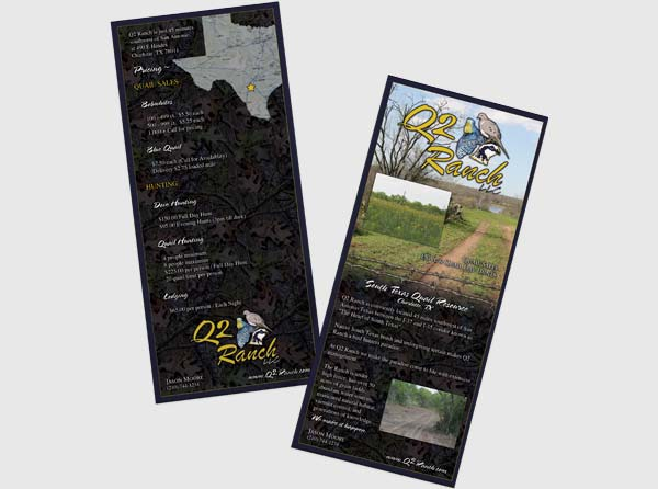 View Hunting Ranch Rackcard Design & Printing