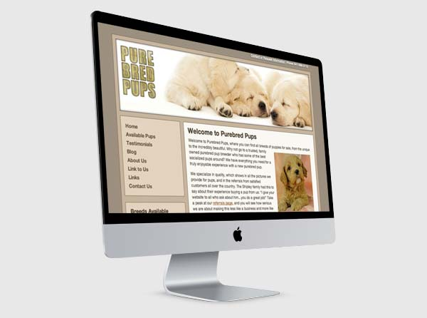 Dog Breeder Website Design