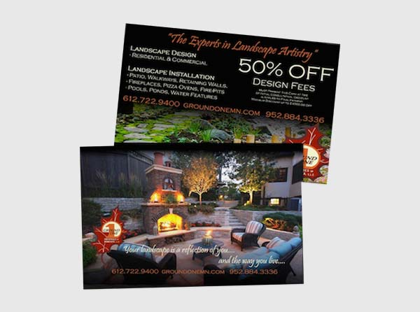 Landscaping Direct Mail Postcards
